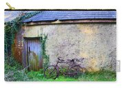 Old Irish Cottage With Bike By The Door Carry-all Pouch