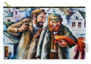 Old Jews And A Rooster  Carry-all Pouch