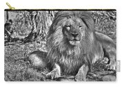 Old King In Black And White Carry-all Pouch