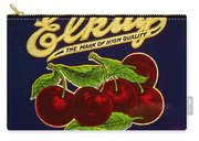 Cherries Antique Food Package Label Carry-all Pouch
