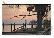 Old Lighthouse In Sunset Carry-all Pouch