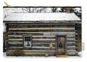 Old Log Home With A Broom Carry-all Pouch