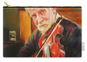 Old Man And Fiddle Carry-all Pouch