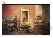 Old Man In Monterossa Italy Dsc02447 Carry-all Pouch
