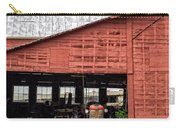 Old Massey Ferguson Red Tractor In Barn Carry-all Pouch