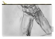 Old Masters Study Nude Man By Annibale Carracci Carry-all Pouch