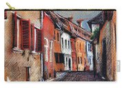 Old Medieval Street In Sighisoara Citadel Romania Carry-all Pouch