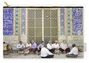Old Men Socializing In Yazd Iran Carry-all Pouch
