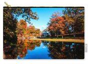 Old Mill House Pond In Autumn Fine Art Photograph Print With Vibrant Fall Colors Carry-all Pouch