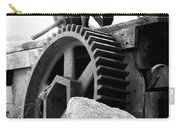 Old Mill Of Guilford Gears Black And White Carry-all Pouch