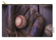 Old Mitt And Worn Baseballs Carry-all Pouch