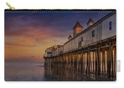 Old Orchard Beach Pier Sunset Carry-all Pouch by Susan Candelario