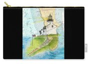 Old Pt Loma Lighthouse Ca Nautical Chart Map Art Cathy Peek Carry-all Pouch