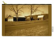 Old Red Barn In Sepia Carry-all Pouch