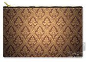 Old Retro Wallpaper In Sepia Carry-all Pouch