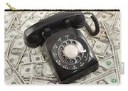 Old Rotary Phone On Money Background Carry-all Pouch