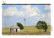 Old Rush County Farmhouse With Windmill Carry-all Pouch