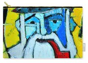 Old Sailor With Pipe Expressionist Portrait Carry-all Pouch