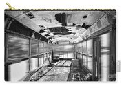 Old School Bus In Motion Bw Hdr Carry-all Pouch
