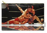 Old School Wrestling Headlock By Dean Ho On Don Muraco With Reflection Carry-all Pouch