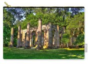 Old Sheldon Church Ruins In South Carolina Carry-all Pouch by Reid Callaway