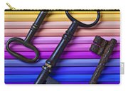 Old Skeleton Keys On Rows Of Colored Pencils Carry-all Pouch