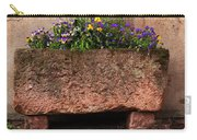 Old Stone Trough And Flowers In Alsace France Carry-all Pouch by Greg Matchick