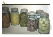 Old Style Vintage Kitchen Glass Jar Canning Carry-all Pouch
