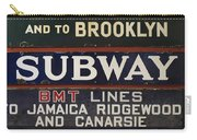 Old Subway Signs Carry-all Pouch