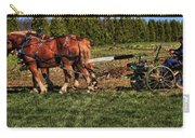 Old Time Horse Plowing Carry-all Pouch