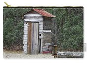Old Time Outhouse And Pitcher Pump Carry-all Pouch