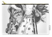 Old Time Santa With Violin Carry-all Pouch