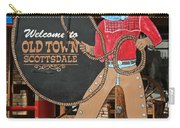 Old Town Scottsdale Cowboy Sign Carry-all Pouch