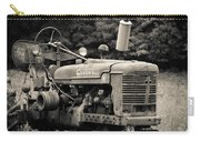 Old Tractor Black And White Square Carry-all Pouch