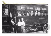 Old Train Station Black And White Carry-all Pouch