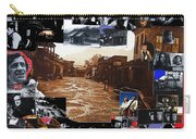 Old Tucson Arizona Composite Of Artists Performing There 1967-2012 Carry-all Pouch