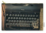 Old Typewriter With Letter Carry-all Pouch
