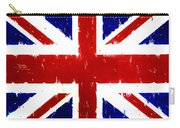 Old United Kingdom Flag Original Acrylic Palette Knife Painting Carry-all Pouch