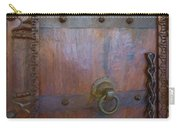 Old Vintage Door With Chain  Carry-all Pouch