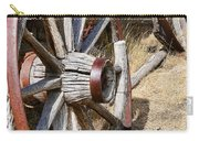 Old Wagon Wheels From Montana Carry-all Pouch by Jennie Marie Schell
