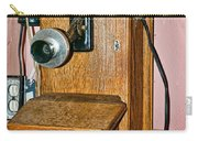 Old Wall Telephone Carry-all Pouch
