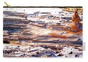 Old Weathered Log On The Sea Shore Carry-all Pouch