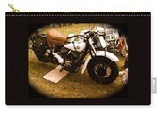 Old White Motorcycle Carry-all Pouch
