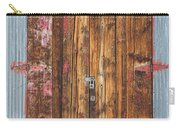 Old Wood Door With Six Red Hinges Carry-all Pouch