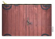 Old Wooden Barn Door Carry-all Pouch