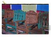 Old Wooden Benches Carry-all Pouch