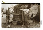 Old  Wooden Wine Press Circa 1910 Carry-all Pouch