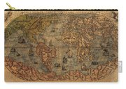 Old World Map Carry-all Pouch by Dan Sproul