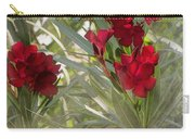 Oleander Blooms - A Touch Of Red Carry-all Pouch