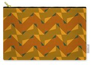 Olive Green And Orange Chevron Collage Carry-all Pouch